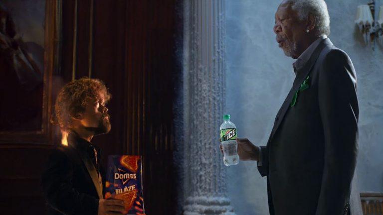 A screenshot of Mountain Dew and Doritos Blaze's 2018 Super Bowl ad.