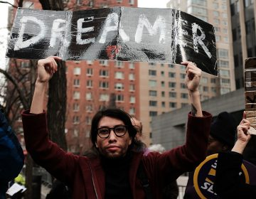Demonstrators protest the lack of a deal on the Deferred Action for Childhood Arrivals program, which includes so-called DREAMers, last month outside of Federal Plaza in New York City. There is still no deal. (Spencer Platt/Getty Images)