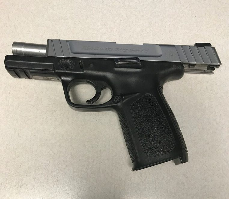 Police seized this 40-caliber Smith and Wesson handgun that was fully loaded with 12 rounds from the Fels student.