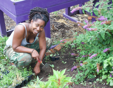 Kirtrina Baxter at work at her community farm in North Philadelphia. (Provided)