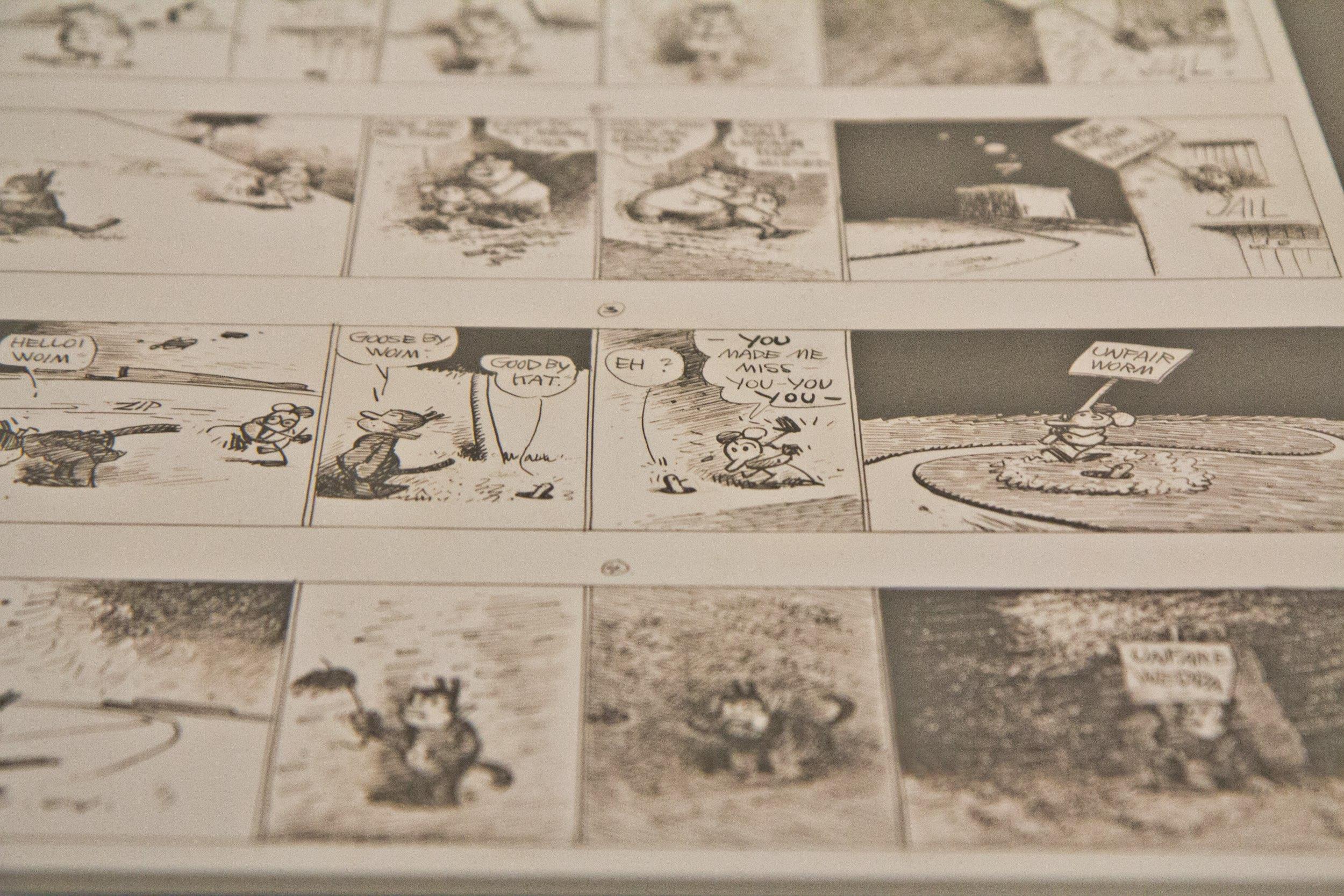 """A """"Krazy Kat"""" (1944) comic strip, by George Herriman"""