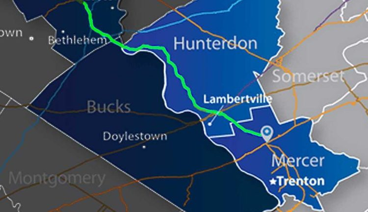 This shows part of the PennEast Pipeline route. (PennEast Pipeline)