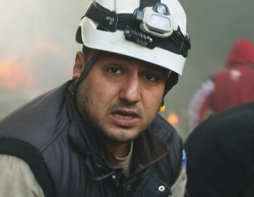White Helmet Khaled Omar Harrah was killed during an airstrike in 2016. He's part of a group of volunteer rescue workers featured in the documentary Last Men in Aleppo (available on Netflix). (Courtesy of Grasshopper Film)