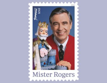 A forthcoming postage stamp featuring Fred Rogers from the PBS children's television series