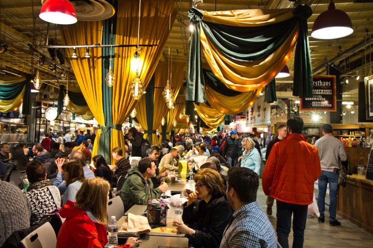 Reading Terminal Market in Philadelphia is celebrating its 125th anniversary. (Kimberly Paynter/WHYY)
