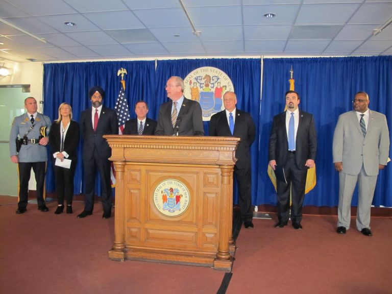 Gov. Phil Murphy and members of his administration discuss steps New Jersey will take in response to the mass killing in Florida. (Phil Gregory/WHYY)