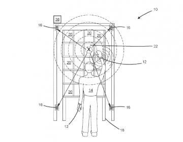 A diagram from an Amazon patent application shows a human worker (labeled with