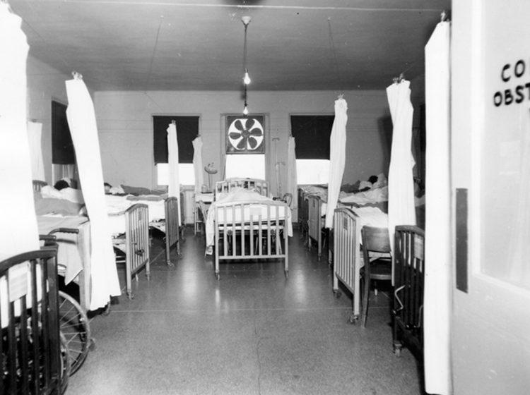 A segregated obstetrics ward at University Hospital,University of Alabama, Birmingham. (Courtesy of UAB)