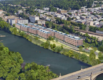 A rendering of the 68-townhouse development planned for Venice Island.