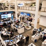 NPR's newsroom during election coverage on Nov. 8, 2016.