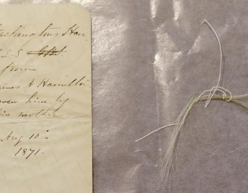 Union College says it recently stumbled across a surprising find in its archive: a lock of George Washington's hair. (Matt Milless/Union College)