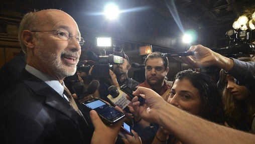 Democratic Gov. Tom Wolf Wednesday, July 12, 2017 in Harrisburg, Pa. (Marc Levy/AP Photo, file)