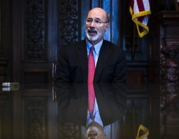 Governor Wolf opted to fill a gap in the state budget by leveraging the Farm Show complex for a loan. GOP lawmakers had intended for him to raid special funds. (Matt Rourke/AP Photo)