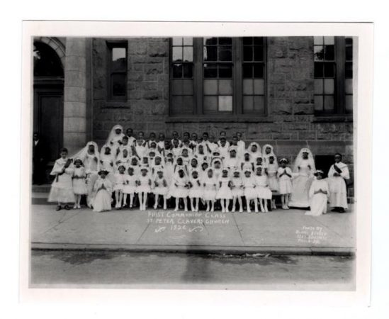 1926 St. Peter Claver First Communion Class / Historical Society of Pennsylvania