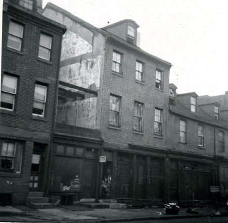 A Pine Street home in disrepair, 1946.