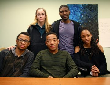 Science Leadership Academy student activists (from left) Tamir Harper, Ella Burrows, Horace Ryans, Kaamil Jones and Zoey Tweh. (