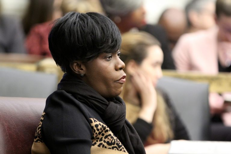 City Councilwoman Cherelle Parker says Philadelphia needs a public education campaign to keep workers — and their employers — up to speed on medical marijuana's rapidly changing legal landscape. (Emma Lee/WHYY)
