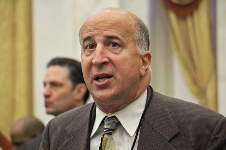City Councilman Mark Squilla plans to introduce a bill to set best practices for identifying and removing lead paint within Philadelphia school buildings. (Emma Lee/WHYY)