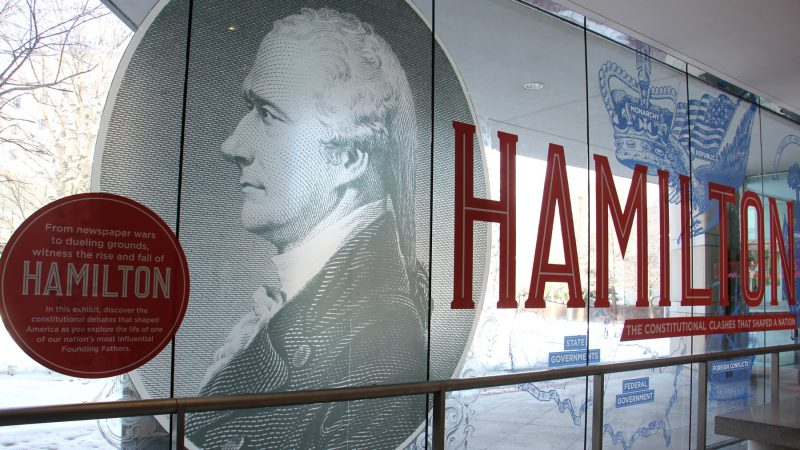 A new exhibit at the National Constitution Center focuses on the life and ideas of Alexander Hamilton and his many rivals. (Emma Lee/WHYY)
