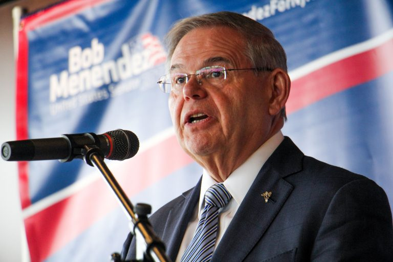 U.S. Sen. Bob Menendez said 3D plastic guns could be detrimental to safety at Amtrak stations and airports. (Emma Lee/WHYY)
