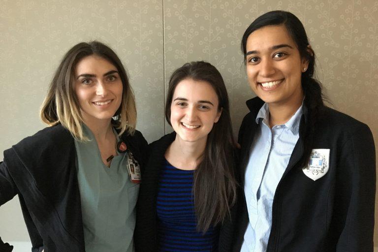 Third year medical students Kelsey Coolahan, Sami Kennedy and Priyanka Chugh have been advocating for disabilities awareness at Cooper Medical School at Rowan University.