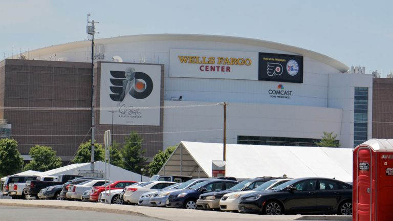 The Wells Fargo Center. (Emma Lee/WHYY)