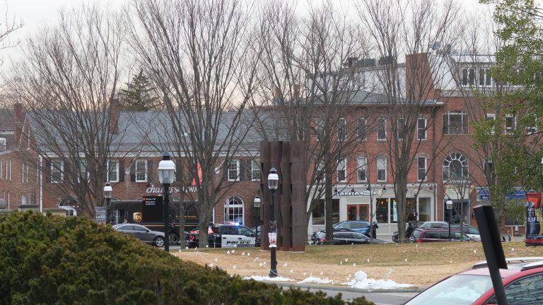 The front of Panera Bread is visible from Princeton University's campus. (Alan Tu/WHYY)