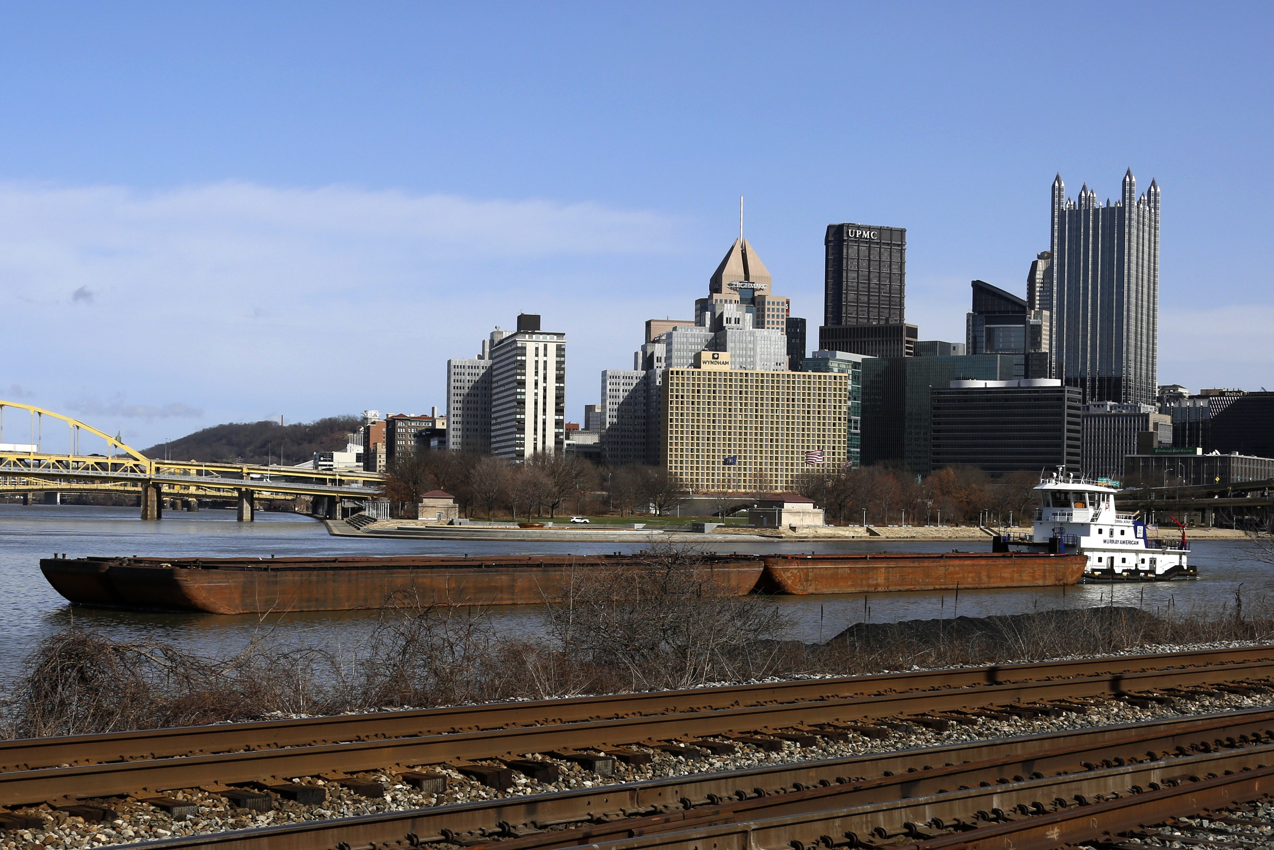 Image result for barges on monongahela river pittsburgh pa 2019