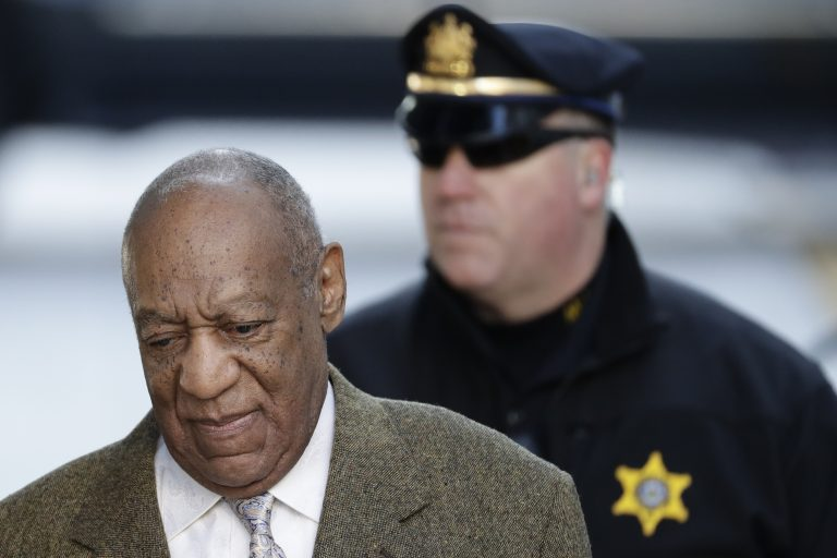 Bill Cosby arrives for a pretrial hearing in his sexual assault case at the Montgomery County Courthouse, Monday, March 5, 2018, in Norristown, Pa.