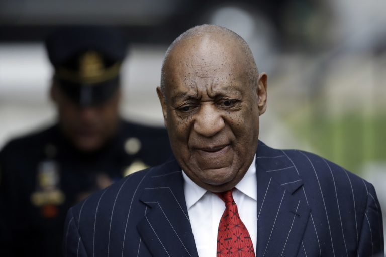Bill Cosby arrives for a pretrial hearing in his sexual assault case, Thursday, March 29, 2018, at the Montgomery County Courthouse in Norristown, Pa. (Matt Slocum/AP Photo)