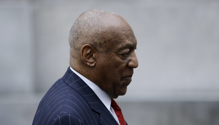 Bill Cosby arrives for a pretrial hearing in his sexual assault case, Friday, March 30, 2018, at the Montgomery County Courthouse in Norristown, Pa. (Matt Slocum/AP Photo)