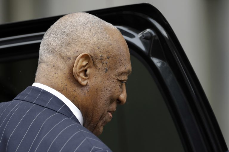 Bill Cosby departs after a pretrial hearing in his sexual assault case, Friday, March 30, 2018, at the Montgomery County Courthouse in Norristown, Pa. (Matt Slocum/AP Photo)