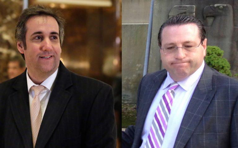 Michael Cohen, (left), and David Schwartz (Richard Drew and Frank Eltman/AP)