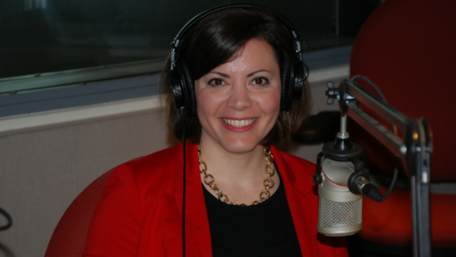 Christina Hartman during an appearance on WITF's Smart Talk. (Rich Copeland/WITF)