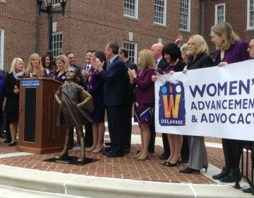 Delaware legislators spoke in support of the Equal Rights Amendment during a rally in Dover. (Zoe Read/WHYY)