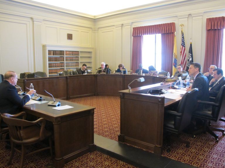 Assembly Education Committee considers the panic alarm bill. (Phil Gregory/WHYY)