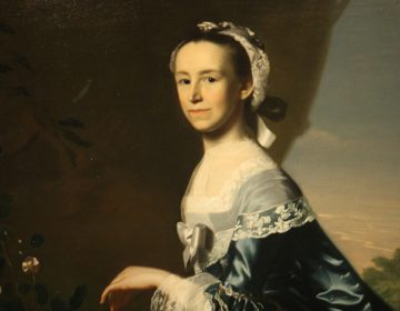 "A detail from John Singleton Copley's ""Mrs. James Warren (Mercy Otis)"