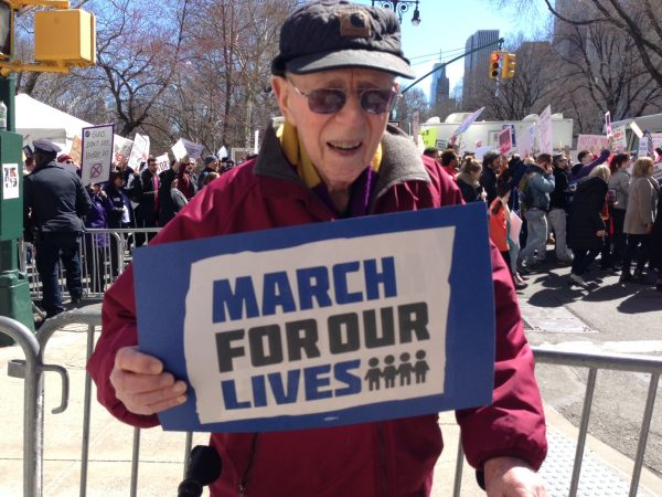 WWII veteran Walter A. Croen, 94, joins the March for Our Lives in New York City (Provided)