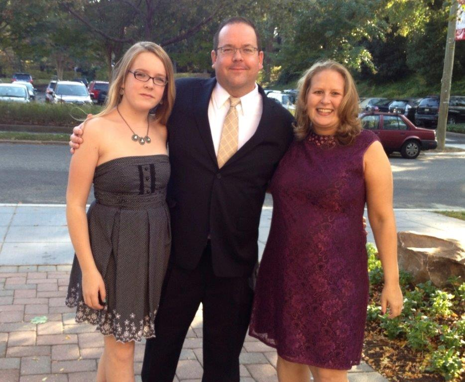 Transgender student Maddie Heeney (left) has thrived in large part because of the support of her father Brian and stepmother Andrea Rashbaum. (Courtesy of Heeney family)