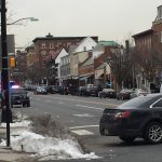 Police in Princeton, N.J. have closed Nassau Street between Washington and Witherspoon streets after a person with a gun entered the Panera restaurant there. (Alan Tu/WHYY)