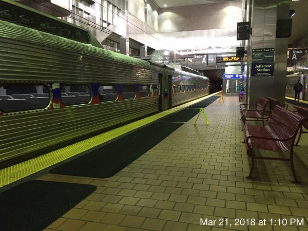 All is quiet at Jefferson Station with most trains running on time (Alan Tu/WHYY)