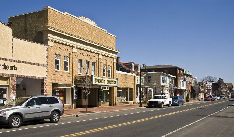 Middletown's historic downtown has been dwarfed by nearby commercial and residential growth . (Wikimedia Commons)