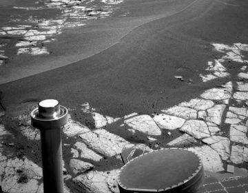 This image was taken with Opportunity's navigation camera of a large dune on the way to Victoria