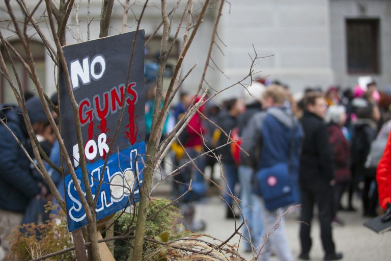 Students Walkout of their school to raise awareness about issues of school safety and the impact of gun violence.