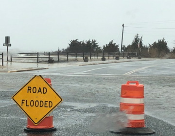 Minor tidal flooding in Seaside Park Friday morning. (Photo: Dominick Solazzo)