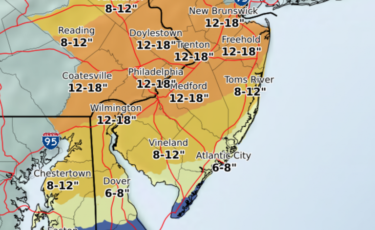 4 p.m. Tuesday forecast from the NWS.