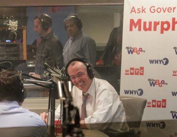 New Jersey Gov. Phil Murphy in WBGO's studios for the first episode of 'Ask Governor Murphy'