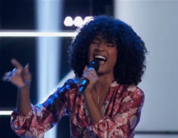 Newark, Delaware's Kelsea Johnson performs on NBC's