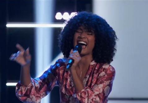 Newark, Delaware's Kelsea Johnson performs on NBC's