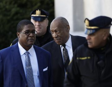 Bill Cosby arrives for a pretrial hearing in his sexual assault case